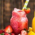 Pineapple pecan strawberry smoothie